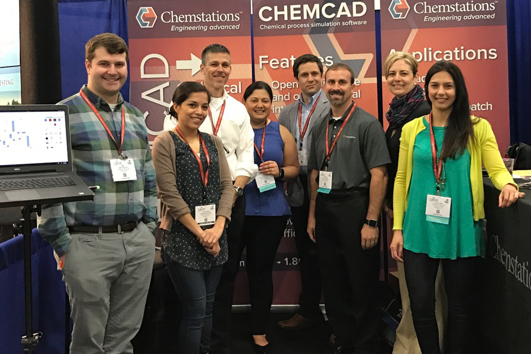Chemstations staff at AIChE's 2017 Spring Meeting